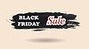Vector clipart: Black Friday watercolor banner design