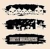 Halloween schwarze Grunge-Banner | Stock Vektrografik