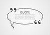 Quote blank speech bubble abstract design