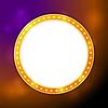 Shining blank circle retro light banner | Stock Vector Graphics