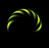 Glühender grüner abstrakter logo | Stock Vektrografik