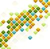 Векторный клипарт: Яркие квадраты. Абстрактный геометрических фон