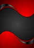 Vector clipart: Red black contrast wavy background