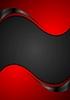 Векторный клипарт: Красный черный контраст волнистый фон