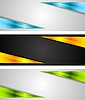 Vector clipart: Abstract bright tech banners