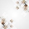Векторный клипарт: Геометрические квадратов коричневого тек