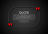 Vector clipart: Quote blank dark flat abstract design