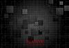 Векторный клипарт: Технология геометрической черный фон с квадратами текстуры