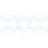 Векторный клипарт: Абстрактный Структура молекулы синий. Медицинская фон