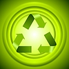 Vector clipart: Green recycle logo sign with smooth circles