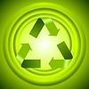 Векторный клипарт: Зеленый логотип корзины знаком с гладких окружностей