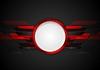 Vector clipart: Dark red technology background