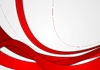 Vector clipart: Abstract red and grey wavy corporate background