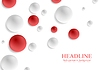 Vector clipart: Red and grey circle balls abstract background