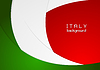 Corporate wavy bright abstract background. Italian