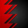 Vector clipart: Red and black contrast tech corporate background