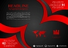 Красный черный волнистый корпоративный фон