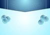 Синий корпоративный фон Рождество с еловыми шаров деревьев