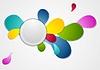 Bunte wellig Drop Formen Hintergrund | Stock Vektrografik