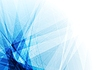 Bright blue geometric shapes tech background