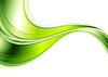 Vector clipart: Green abstract smooth waves background