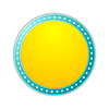 Shining yellow circle retro light banner