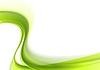 Grüne abstrakte hellen Wellen Hintergrund | Stock Vektrografik