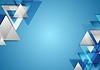 Corporate Tech-geometrischen Hintergrund mit Dreiecken | Stock Vektrografik