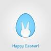 Easter egg and rabbit design