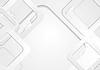 Векторный клипарт: Серый фон технологий квадратов