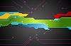 Векторный клипарт: Красочный фон технологии