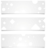 Векторный клипарт: Светло-серый технологий геометрические баннеры