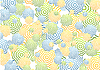 Vector clipart: Bright abstract rings background