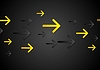 Vector clipart: Abstract tech dark black background with arrows