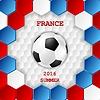 Векторный клипарт: Яркий фон футбол с мячом. французские цвета