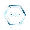 Vector clipart: Blue tech hexagon