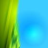 Rayas borrosas verdes sobre fondo azul brillante | Ilustración vectorial