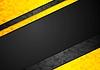 Vector clipart: Contrast orange black corporate polygonal background