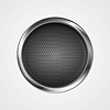 Vector clipart: Abstract metal perforated circle background