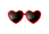 Vector clipart: Sunglasses with Valentine heart shapes