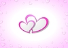 Vector clipart: Pink hearts Valentine Day background