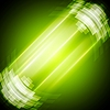 Vector clipart: Abstract bright green technology background