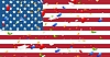 Vector clipart: Presidents Day abstract USA flag colors background