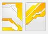 Vector clipart: Abstract orange grey geometric tech flyer design