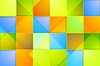 Vector clipart: Colorful abstract tech squares background