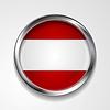 Абстрактный кнопка с металлической раме. австрийский флаг