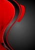 Bright contrast red black wavy background
