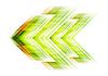 Flecha verde fondo de alta tecnología | Ilustración vectorial