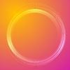 Futuristische bunte orange lila Kreisentwurf | Stock Vektrografik