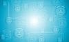Vector clipart: Light blue hi-tech background